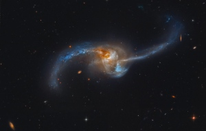 Hubble Telescope: Two Galaxies Merging