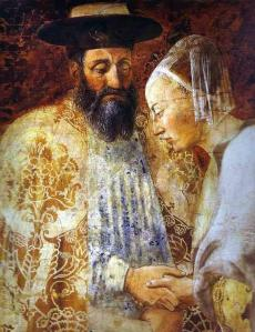 Piero della Francesca: Legend of the Cross - The Queen of Sheba Meeting with Solomon
