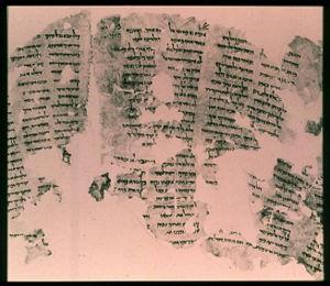 Portion of Sirach Scroll found at Masada