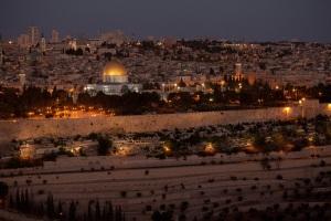 Modern Jerusalem at Night