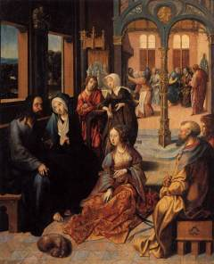 Cornelis Engenbrechtsz: Christ in the House of Martha and Mary