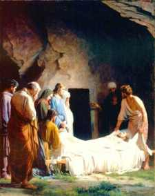 Karl Heinrich Bloch: The Burial of Christ