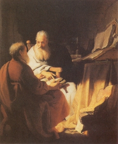 Rembrandt: Two Old Men Disputing (Saints Peter and Paul)