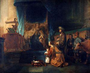 Gerbrand Van den EEckhout:Hannah presenting her son Samuel to the Priest Eli