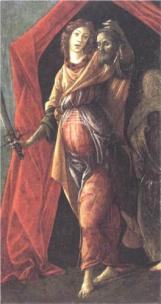 Boticelli: Judith Leaving the Tent of Holofernes