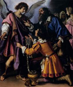 Biliverti: The Archangel Raphael Refusing Tobias' Gift