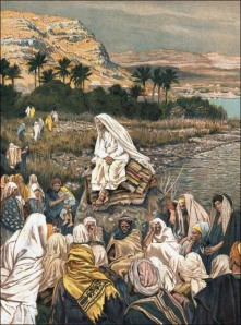 Tissot: Jesus Teaching by the Seashore
