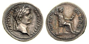 """Show me a denarius,"" Jesus said.  ""Whose portrait and title are on it?"""