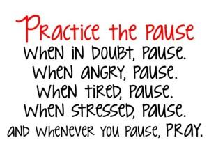 pause to pray
