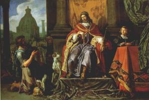 Pieter Lastman: David hands the Letter to Uriah