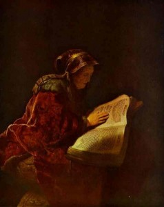 Rembrandt: St. Anna the Prophetess