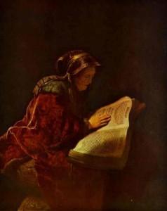 Rembrandt: St. Anna the Prophetess