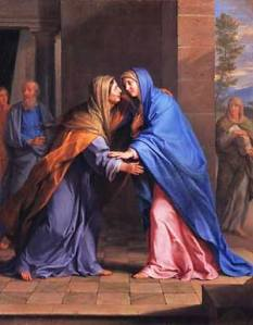 Champaigne: Visitation The Canticle of Mary or the Magnificat