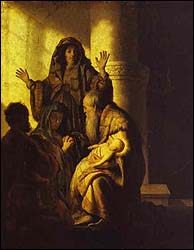 Rembrandt: The Presentation of Jesus in the Temple