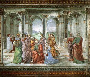 Ghirlandaio: Annunciation of John the Baptist to Zechariah