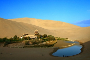 The Crescent Oasis: Gobi Desert, China