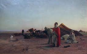 Eugene Alexis Girardet: Prayer in the Desert