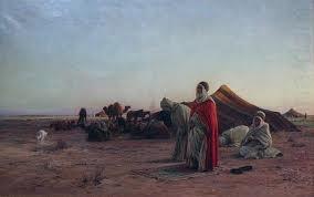 Eugene Alexis Girardet: Prayer in the Desert