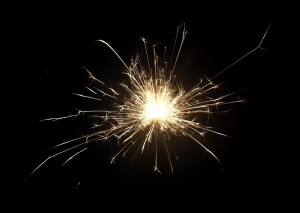 sparks of fire
