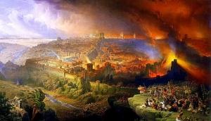 """Ercole de"""" Roberti: Destruction of Jerusalem"""