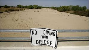 no diving from bridge