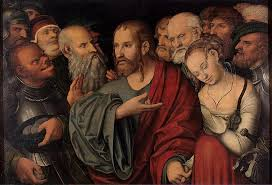 Lucas Cranach: Christ and the Adulterous Woman