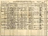 USA 1910 Census Document