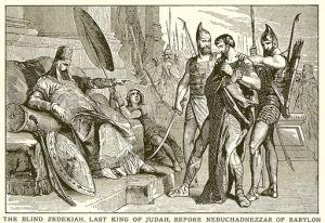19th Century English School: Blind Zedekiah, Last King of Judah, Before Nebuchadnezzar