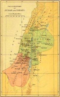 Map of Israel and Judah