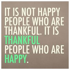 happy grateful people