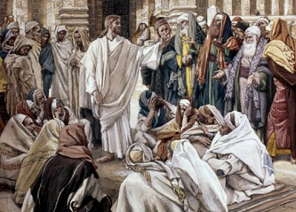 Tissot: The Pharisees Question Jesus