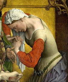 Detail frm Roger van der Weyden: The Descent from the Cross