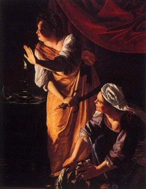 Artemisia Gentilischi: Judith and the Maid-servant with the head of Holofernes