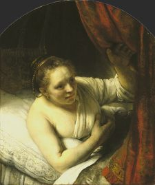 Rembrandt: Sarah Waiting for Tobias