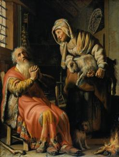 Rembrandt: Tobit and Anna