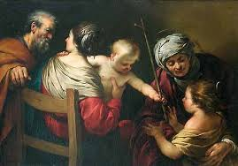 Jacques Blanchard: The Holy Family with Saint Elizabeth and the Infant Saint John the Baptist and the Infant Jesus