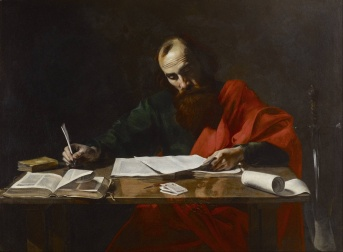 Attributed to Valentin de Boulogne: St. Paul Writing his Epistles