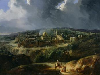 Auguste Forbin: View of Jerusalem from the Valley of Jehoshaphat