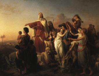 Jozef Molnar: Moses Leading the Israelites Out of Egypt