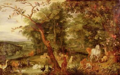 Jan Brueghel: The Temptation in the Garden of Eden