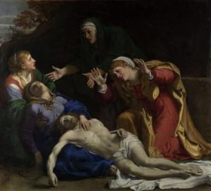 Annibale Carracci: The Dead Christ Mourned by the Three Marys