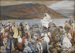 Tissot: Jesus Teaches the People by the Sea