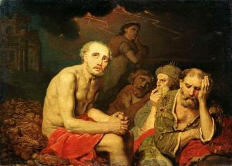 Vladimir Borovikovsky: Job and his Friends