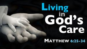 living in god's care - hands