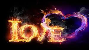 love heart afire