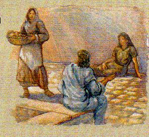 Martha complains to Jesus about her sister Mary