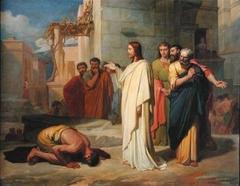 Jean-Marie Melchior Doze: Jesus Healing the Leper