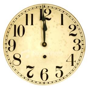ClockClipArtNoon