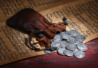 The chief priests paid Judas 30 pieces of silver to hand Jesus over (Matthew 26:14-16)