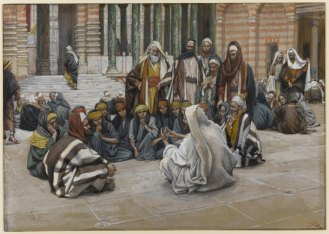 Tissot: Jesus Teaching in the Temple